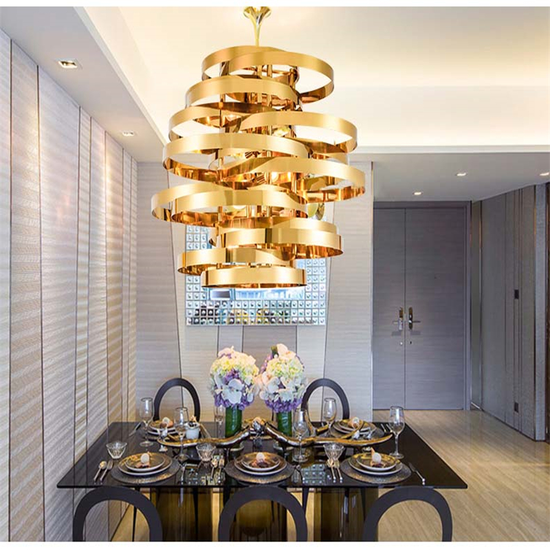 Fumat gold cyclone pendant light modern living room dinning room fumat gold cyclone pendant light modern living room dinning room droplight cafe bar art deco lamp stainless steel hanging lamp in pendant lights from aloadofball Image collections