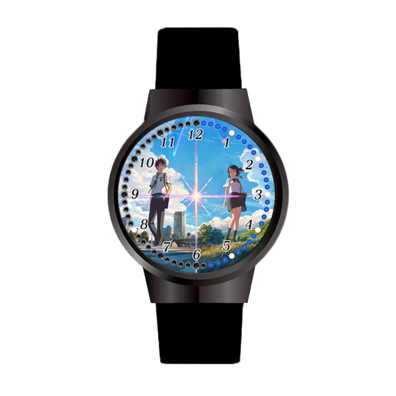 Personalized Customized Anime Your Name Watch Tachibana Taki And Miyamizu Mitsuha Photo Watches For Boyfriend Girfriend Gift
