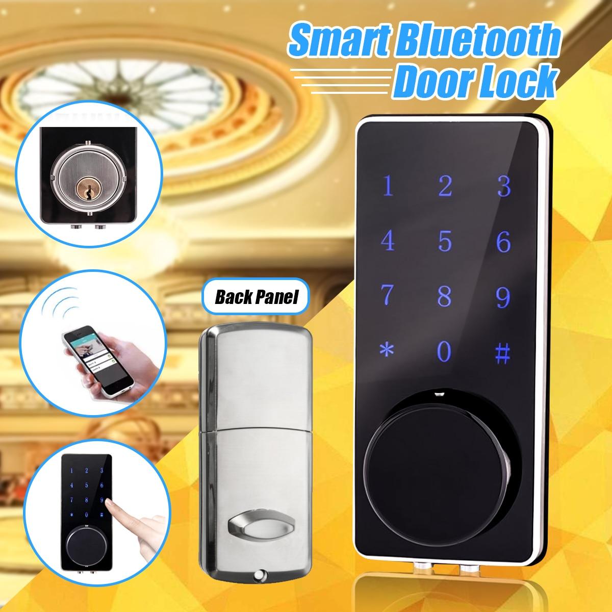 все цены на NEW Electronic Bluetooth Smartcode Digital Door Lock Keyless Touch Password Deadbolt For Hotel and Apartment онлайн