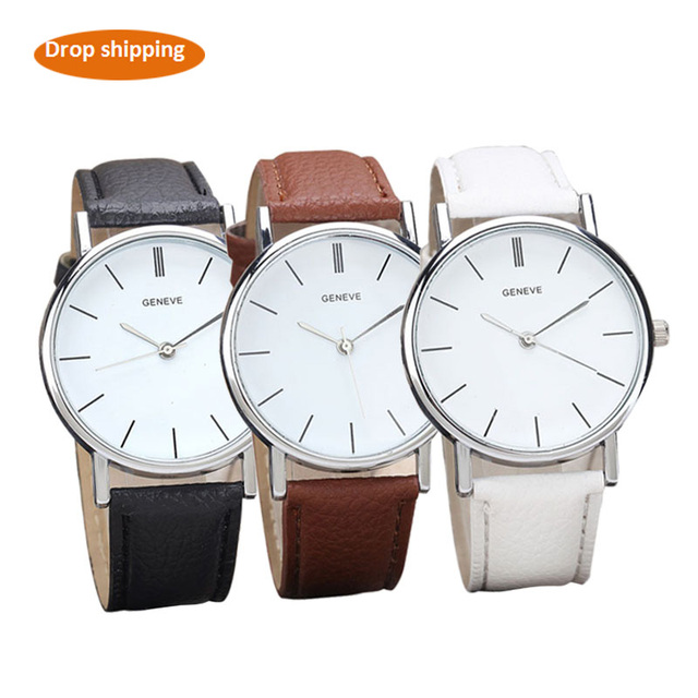 Women's watches Retro Design Analog Alloy Quartz Watches Leather Band women's wa