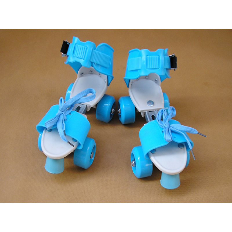 New Children Two Line Roller Skates Double Row 4 Wheel Skating Shoes Free Size Sliding Slalom Inline Skates Gifts For Kids IB34 children roller sneaker with one wheel led lighted flashing roller skates kids boy girl shoes zapatillas con ruedas