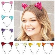 Hot paper rose flower head buckle  fashion birthday party headdress Female children hair band Christmas gift cat ears headban