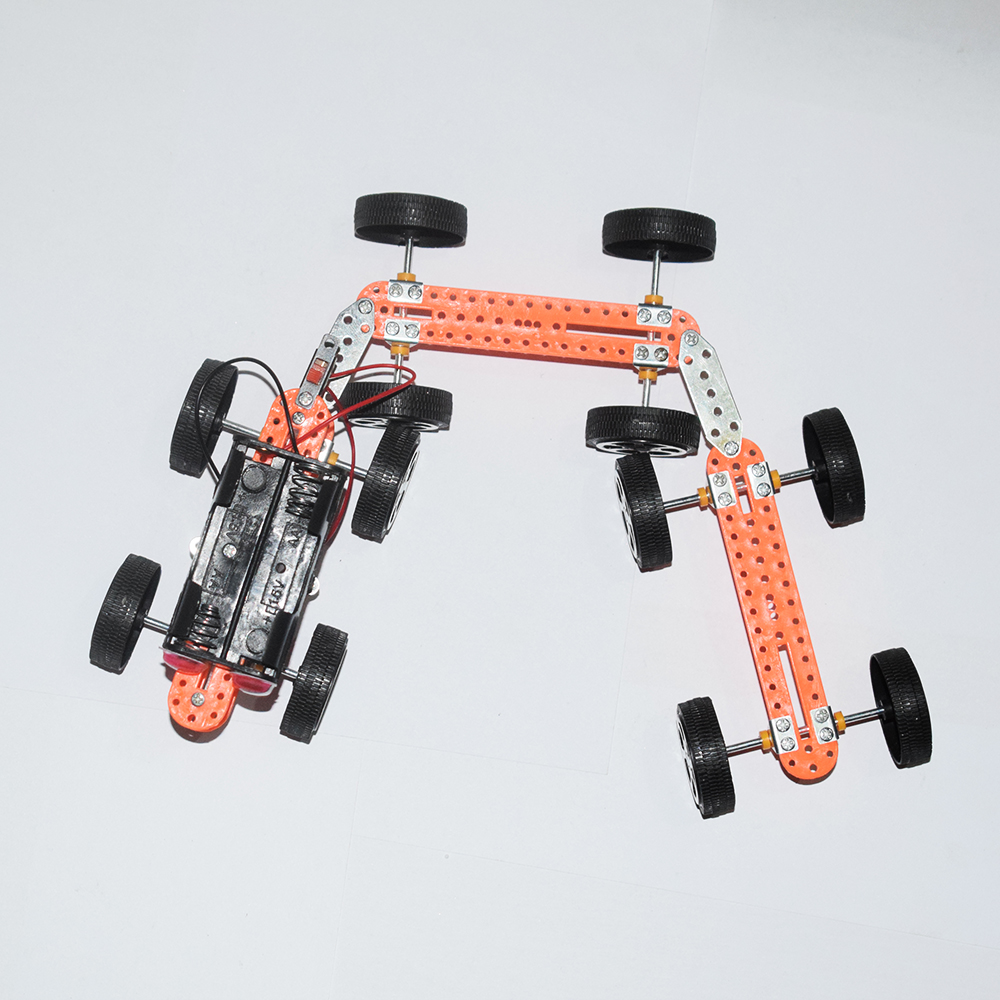 Electric four-wheel drive train/scientific physics experimental Educational toys/DIY technology production/puzzle/baby toys