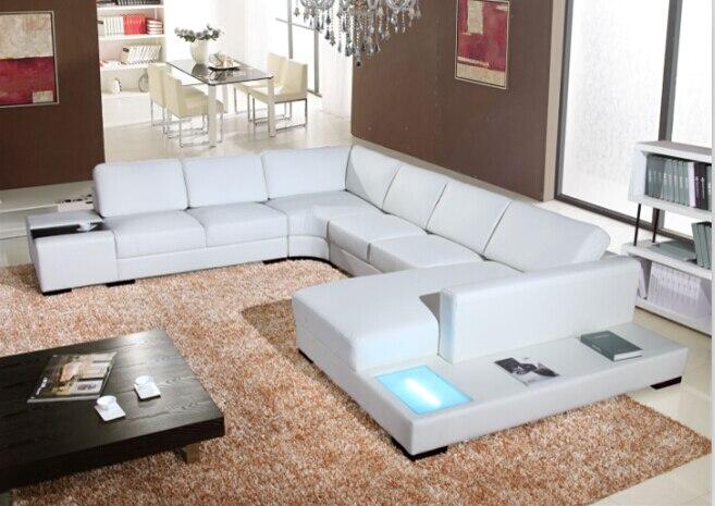 Aliexpress Sofas Fr Wohnzimmer Mit Europischen Stil Sofa Moderne Ecksofas Grossen Ecksofa LED Licht Von Verlsslichen For Living