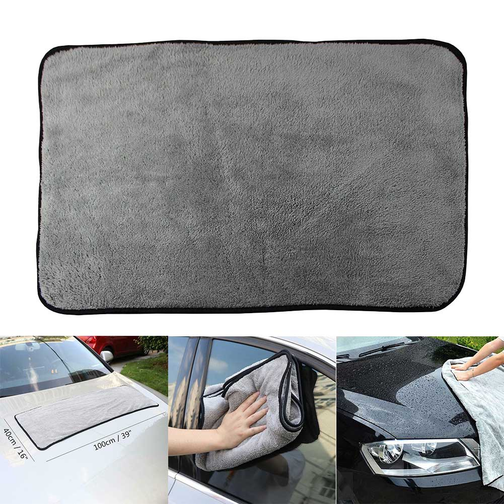 Plush Drying Towel Super Absorbent Car Cleaning Cloths Soft Portable Quick Drying Car Washing Accessories