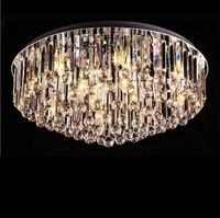 Crystal Ceiling Lamp Round Living Room Bedroom Crystal Ceiling Light Exit Grade K9 Crystal with Remote Control lighting fixture