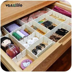 vanzlife free combination storage drawer dividing plates plastic separator drawers partition board 5pcs/lot