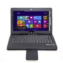 Negro sin hilos de bluetooth desmontable teclado de cuero de la pu case para lenovo thinkpad tablet 2 10.1