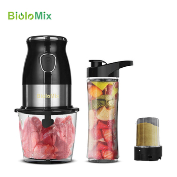 BPA FREE 500W Portable Personal Blender Mixer Food Processor With Chopper Bowl 600ml Juicer Bottle Meat Grinder Baby Food Maker