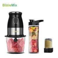 Mélangeur mélangeur personnel Portable sans BPA, 500 W, mélangeur d'aliments avec bol de hachage, bouteille de 600 ml, broyeur à viande, machine à aliments pour bébés