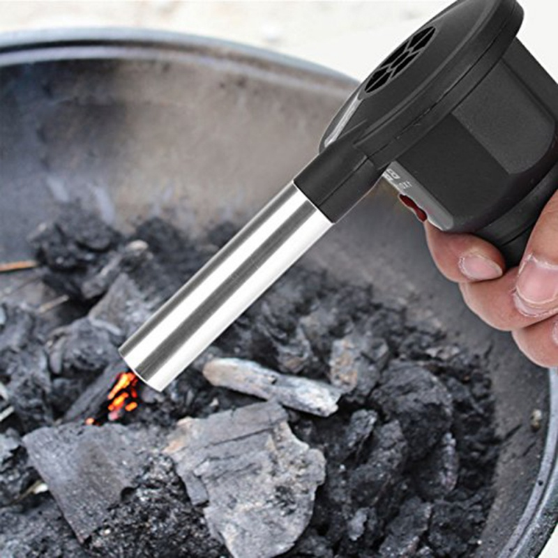 2019 1 Piece Portable Electric BBQ Fan Air Blower Burn Picnic Cooking Barbecue Camping Fire Blower Tools