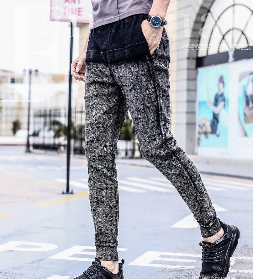 Fanzhuan 2017 Free Shipping New Male fashion casual men's Slim Pencil pants trousers skinny summer 718154 promotion man striped