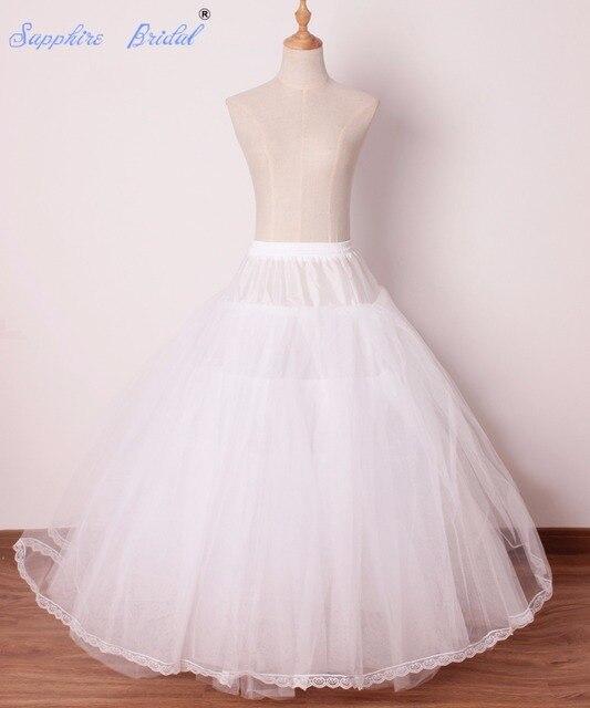Sapphire Bridal Womens Hoopless Bridal Crinoline Petticoat For Ball