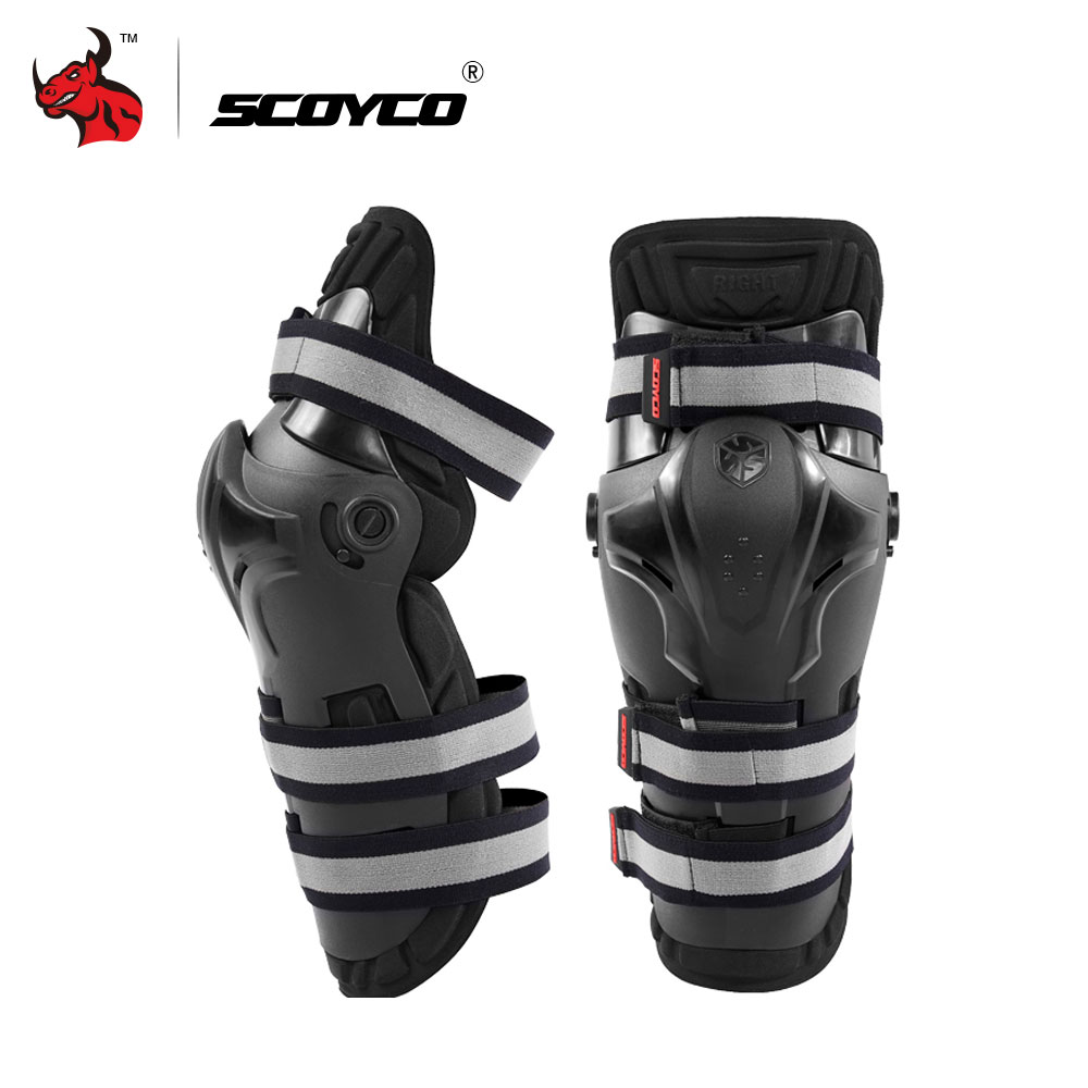 SCOYCO Motorcycle Riding Knee Pads Motocross Off Road Racing Knee Protector Guard Outdoor Sports Protective Gear