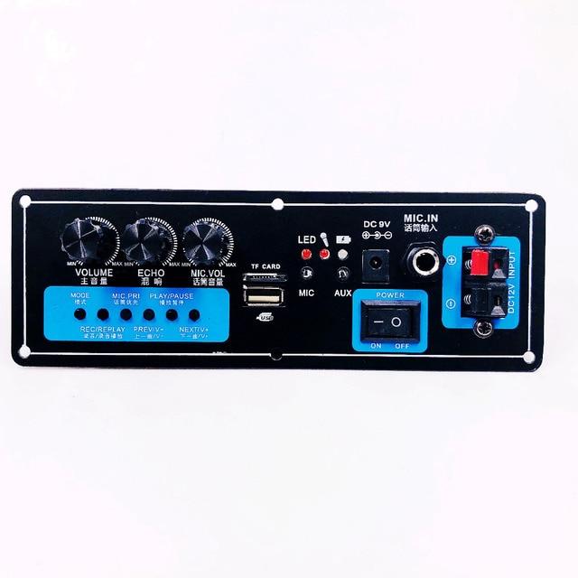 Wireless Speaker Bluetooth Audio Receiver 50W Digital Power amplifier Board subwoofer microphone Reverb 7.4V lithium battery