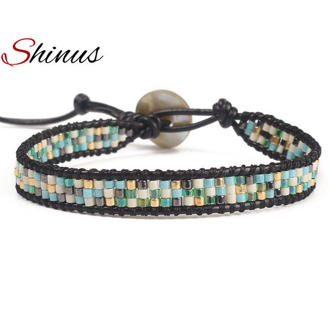Shinus Miyuki Seed Beads Bracelet New Fashion Bracelets Women Men Trendy  Boho Jewelry Natural Stone Bead 9751fba55f79