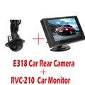 480x272 Pixels 4.3 Polegada TFT LCD Monitor Do Carro Retrovisor Do Carro Monitor + E318 Night Vision Cor Câmera de Visão Traseira Do Carro À Prova D' Água