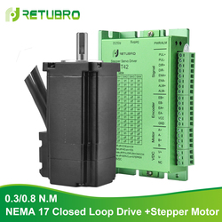 CNC Kit Stepper Motor and Driver Nema 17 Stepper Motor 0.3/0.8NM  DC Power Supply 24-50V Stepper Driver Closed Loop at low price