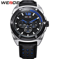 WEIDE Luxury Fashion Casual Men's Watch Quartz Movement 30m Waterproof High Quality Leather Strap Paper Gift Box Christmas Gift