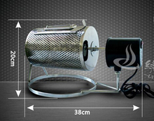 FREE SHIPPING to some country 220V or 110V Electric Stainless Steel Coffee Roaster used in gas