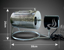 FREE SHIPPING to some country 220V or 110V Electric Stainless Steel Coffee Roaster used in gas stove or electric stove
