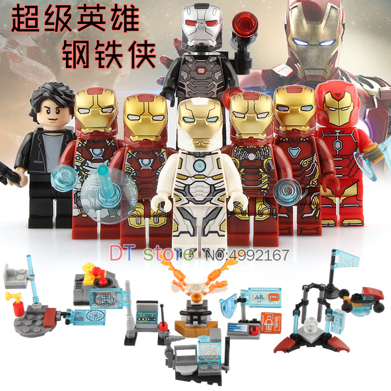 80PCS/LOT Avengers Infinity War Iron Man Marvel Super Heroes Action Figure Model Building Blocks Collection Children Toys SY1121