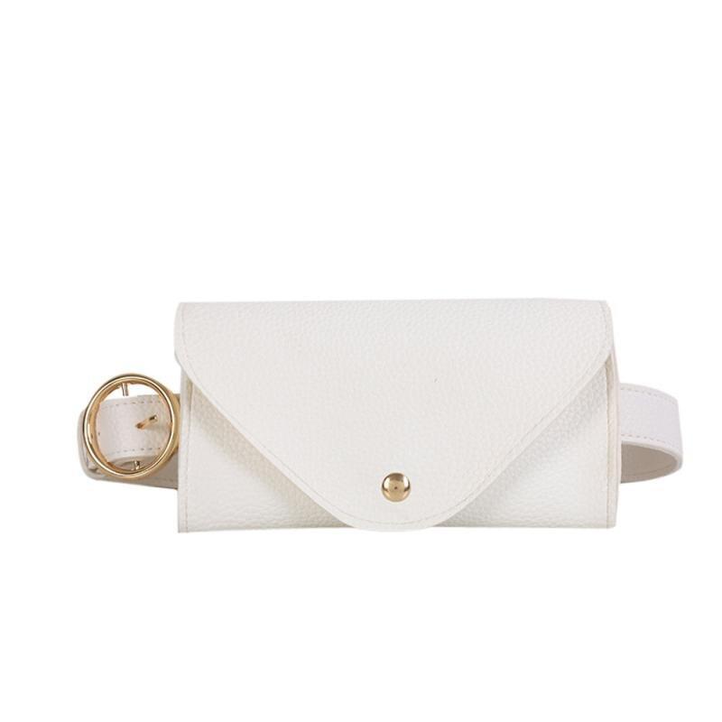 Waist Bags Fashion Women Belt Bag Color Leather Messenger Shoulder Chest Bag heuptas voor smartphone Purse Black White Gift 3# цена 2017