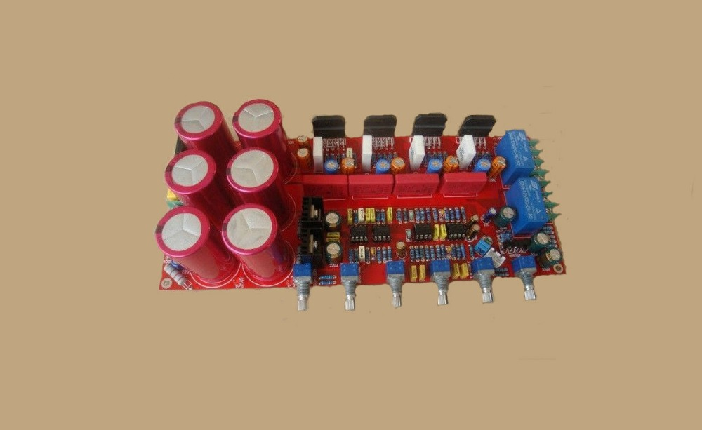 LM3886+NE5532 Three-Channel Amplifier Board 68W*2 Finished Board hot sale power amp board 68w 68w lm3886 amplifier board with circuit protection