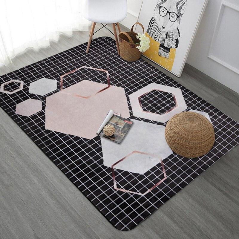 Style nordique tapis géométriques pour salon chambre grands tapis canapé Table basse tapis de sol étude enfants jouant Tapete