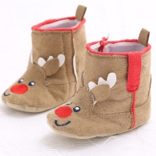 2017 New arrival Baby Girls Christmas Reindeer Toddler Snow Booties Infant Toddler Shoes Zapatos Sapatos De Bebe