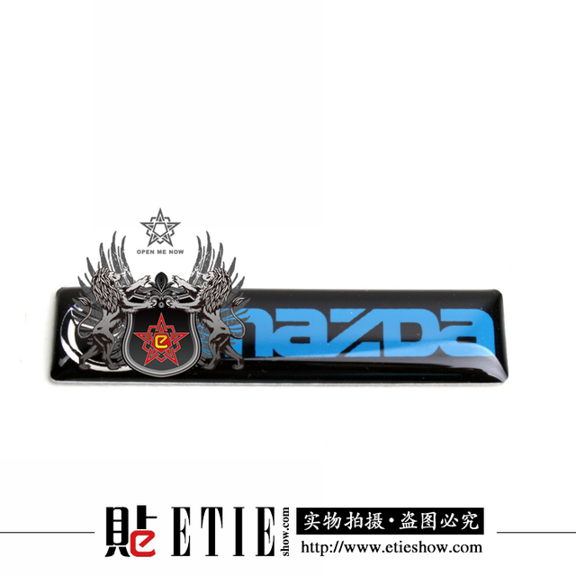 Etie factory direct best price mazda 3 vinyl decals sticker 6014mm metal sticker label