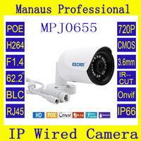 POE Mini IP Camera 720P Onvif P2P IR Cut Outdoor IP66 Surveillance Night Vision Infrared Security
