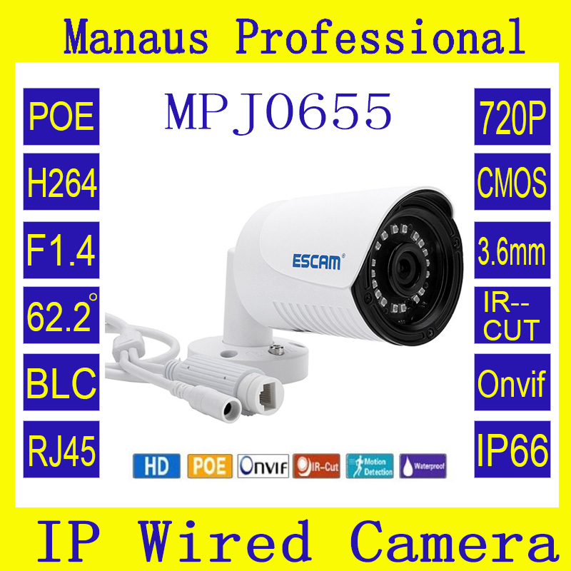 POE Mini IP Camera 720P Onvif P2P IR Cut Outdoor IP66 Surveillance Night Vision Infrared Security CCTV Camera ESCAM Plane QE07 mosafe 16ch full hd poe power over ethernet infrared led ir cut onvif 1280 720p ip66 waterproof p2p home surveillance system