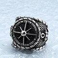 Legal big anchor anel para o homem de aço inoxidável anéis dos homens do punk rock biker bijuterias titanium aço original br8-341