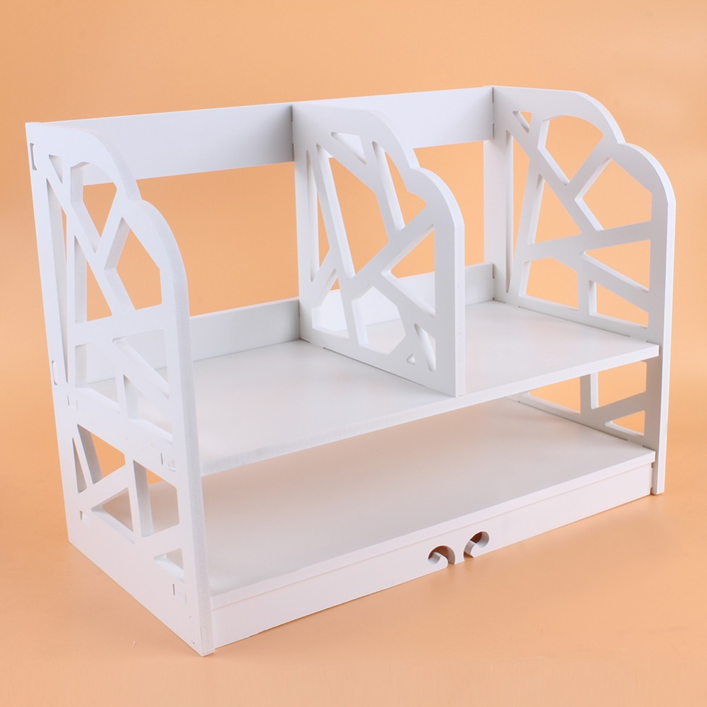 Image 5 - 2 Tiers DIY Shelving CD Book Storage Box Unit Display Bookcase Shelf Home Office Book Display Storage Unit Bookcase Shelf-in Bookcases from Furniture