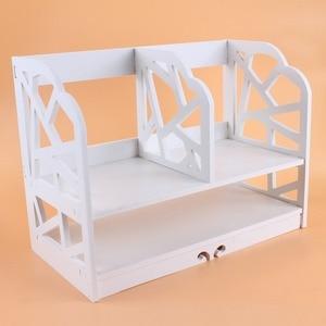 Image 1 - 2 niveles DIY estantería CD caja para almacenar libros unidad de visualización estantería casa Oficina libro unidad de almacenamiento estantería