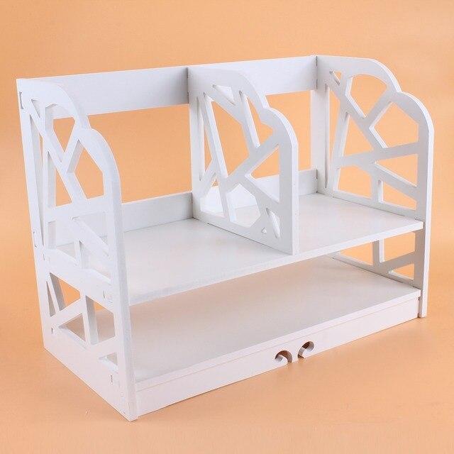2 niveles DIY estantería CD caja para almacenar libros unidad de visualización estantería casa Oficina libro unidad de almacenamiento estantería