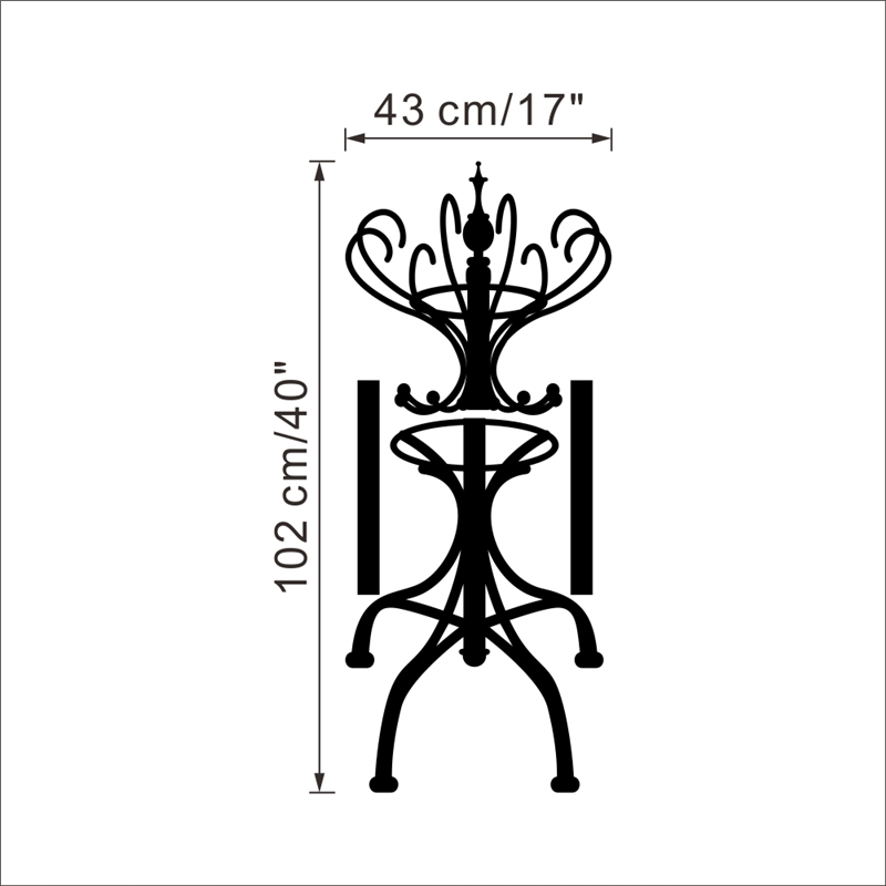 Cloth Stand For Bedroom Creative Decoration creative clothes stand wall stickers for living room bedroom