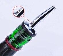 1 Pieces New Stainless Steel Liquor Spirit Pourer Free Flow Wine Bottle Pour Spout Stopper GD45