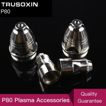 20pcs P80 Consumables Tips and Electrodefor 80A 100A Air Plasma Cutter CUT80 CUT100 WSM  Welding Machine
