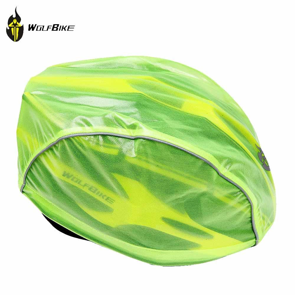Wolfbike Helmet Cover Waterproof Bicycle Helmet Cover MTB Bicycle Motorcycle Rain Helmet Cover 3 Colors