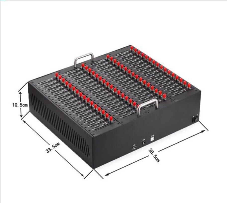 Antecheng 64 sim cartes en vrac sms modem MTK M35 module, 64 ports modem piscine imei changement par commande at