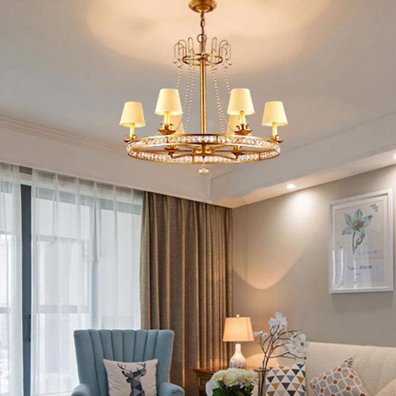 Antique Annular home lights & lighting chandelier with fabric shade art studio Restaurant retro vintage Industrial lighting LUZ