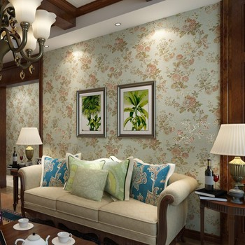 beibehang  non-woven wallpaper pastoral retro American country wallpaper bedroom living room TV backdrop of old Shanghai