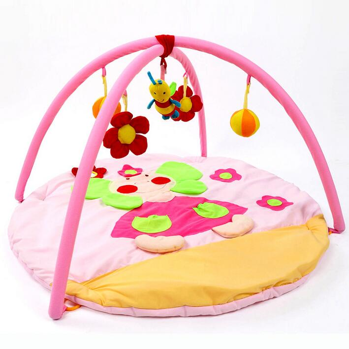Baby Educational Toys Crawling Mat Pink Elephant Infant Floor Blanket Baby Play Mats Baby Cushion 0-12 Month baby play mats brown bear baby crawling mats baby cushion 0 12 months baby mats gifts 95cm 95cm toys mat