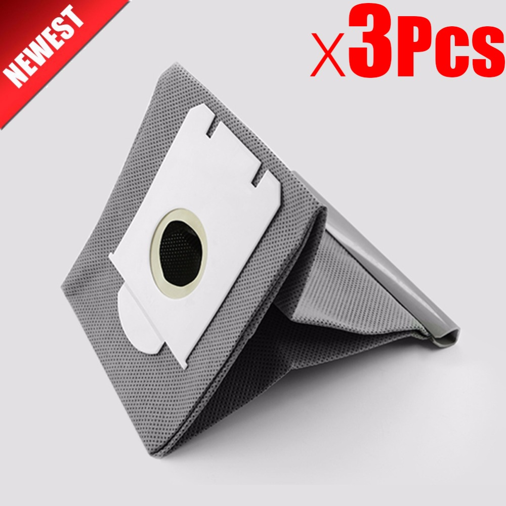 3Pcs Dust Washable S-bag Vacuum Cleaner Bags Dust Bag Replacement For Philips FC9071 FC8134 FC8613 FC8614 FC8220 FC8222 FC8200