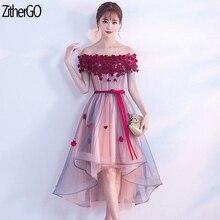 ZitherGo Dress Boat Neck Flowers Beaded Formal Women Occasion Party Dresses Lady New Elegant Long dress