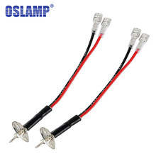 Oslamp For H1 Socket 1 Pin Convert to 2 Pins Adapter Wire LED Replacement Bulb Single Diode Converter Wiring(China)