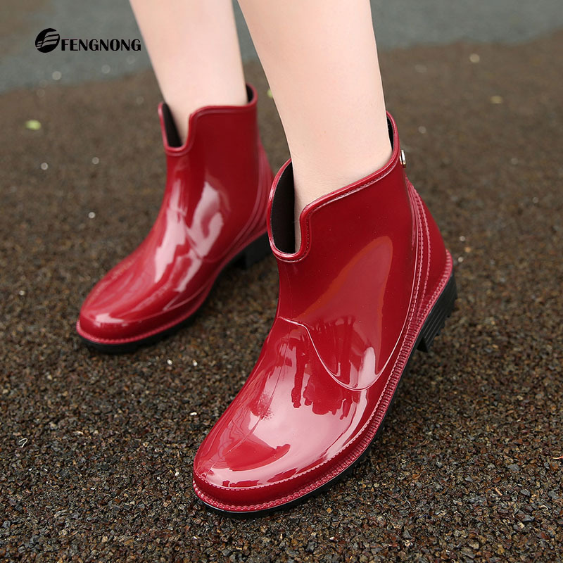 Charming The New Low Warm Rain Boots U Tube Water Shoes Fashion Waterproof 2017 Low Elastic Shiny women's Rain Boots hxrzyz big size rain boots new fashion non slip rubber boots waterproof fishing boots in the tube rain shoes women