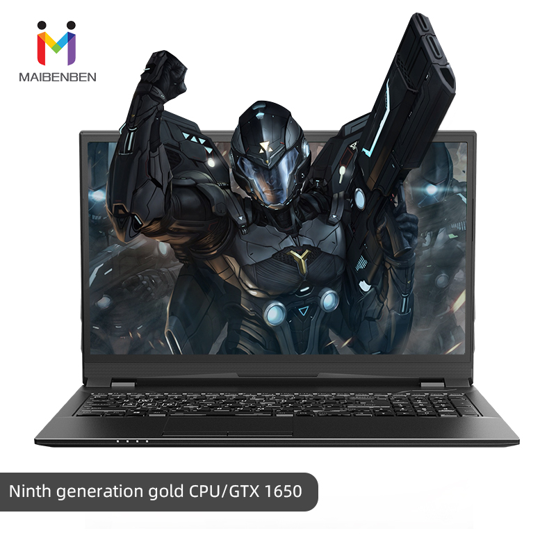"Super Gaming Laptop MaiBenBen HeiMai 7-C/16.1"" G5420/8G RAM/PCI-E 256G+1TB HDD/NVIDIA GTX1650 Graphics Card/DOS Fashion Notebook"